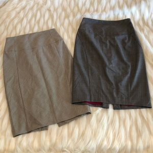 Lot of 2 express Pencil high waisted skirts size 4